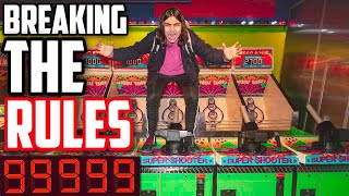 I BROKE EVERY RULE AT THE ARCADE AND WON EVERY JACKPOT! | 10000 TICKETS (SECURITY WAS FOLLOWING ME!)
