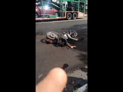 MOTOCICLISTA BATE DE FRENTE COM CAMINHÃO E MORRE EM OURO BRANCO