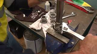 Completion of reassembly of piston of a Graco Xtreme airless sprayer
