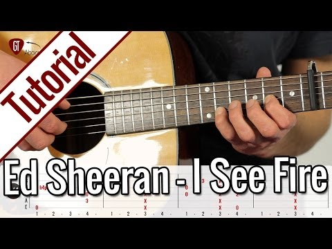 Ed Sheeran - I See Fire | Gitarren Tutorial Deutsch