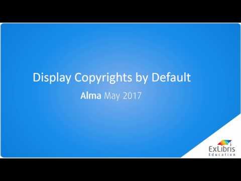 Display Copyrights by Default
