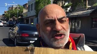 Գասպարին ակցիա է իրականացնում Սերժ Սարգսյանի տան մուտքի դիմաց