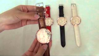 Fashion Round Dial Wristwatch with PU Leather Band