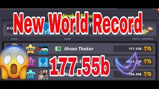 8 Ball Pool - New World record Highest Winnings in History 😱