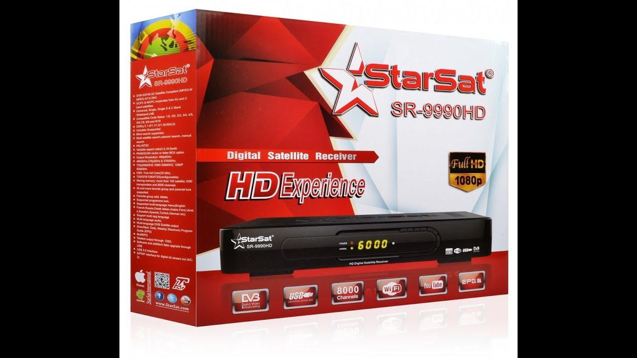 STARSAT SR9990HD PLAY YOUTUBE VIDEO