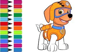 PAW Patrol Zuma - coloring Page! Fun Coloring Activity for Kids Toddlers