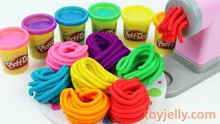 Learn Colors Play Doh Pasta Spaghetti Making Machine Baby Toy Appliance and Surprise Egg Kids Toys
