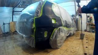 Ніссан Х-трейл ремонт Н Новгород кузовний ремонт і фарбування . Nissan X-Trail Auto body repair.