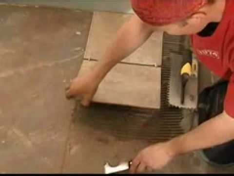 Floor Tile Laying Part 3 Back Buttering Mortar On Youtube