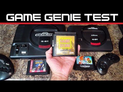 SEGA Genesis Flashback Game Genie TEST AT Games