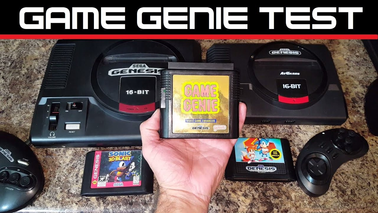 Sega Genesis Flashback Game Genie Test At Games
