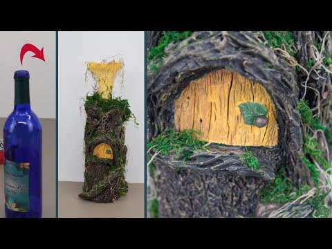 DIY Wine Bottle Fairy House