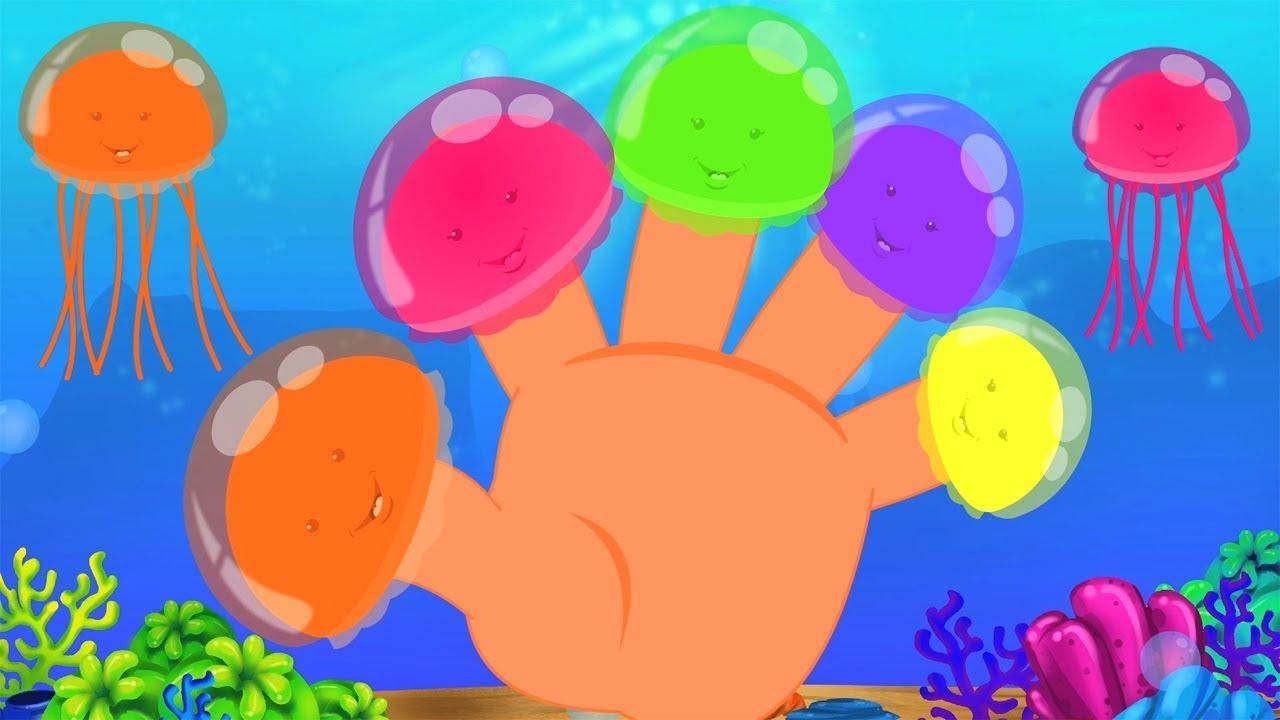 Медузы палец Семейство | дошкольная песня | Children Poems ...