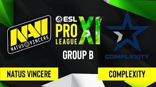 CS:GO - Natus Vincere vs. Complexity Gaming [Inferno] Map 1 - ESL Pro League Season 11 - Group B