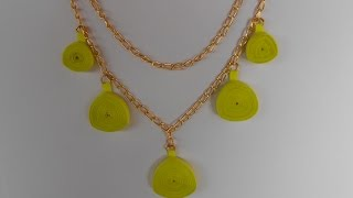 Neon Quilling Necklace - Making Tutorial