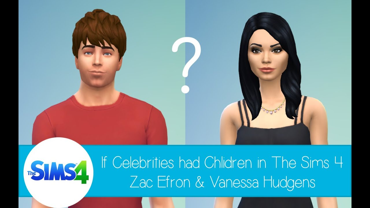 If Celebrities Had Children In The Sims 4 Zac Efron