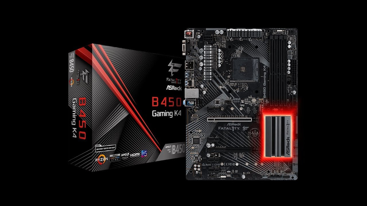 ✅ASRock Fatal1ty B450 GAMING K4 Motherboard Review