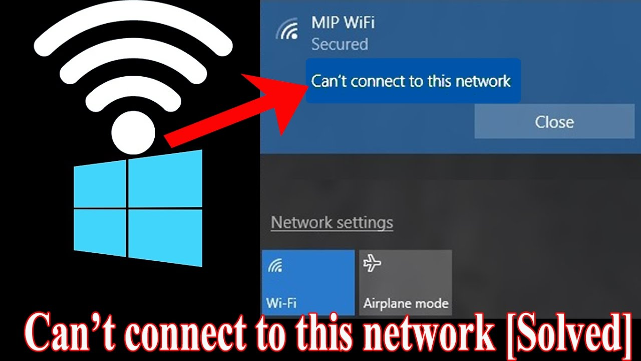 can t connect wifi windows 10