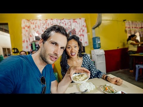 FOREIGNERS EATING FILIPINO FOOD LIKE A LOCAL - Trying Carinderia in Camiguin Island