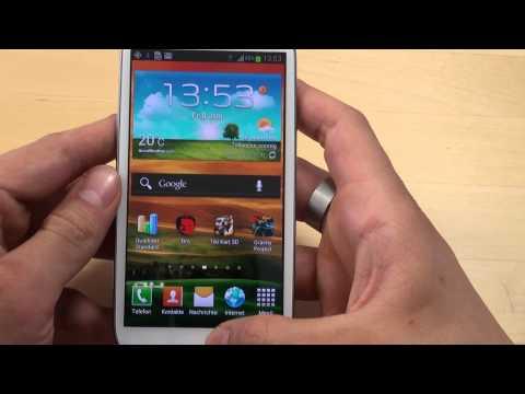Samsung Galaxy S III - Bedienung - Teil 2