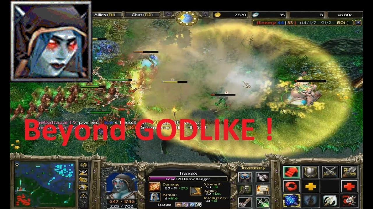 DotA 680c Drow Ranger Traxex Beyond GODLIKE YouTube