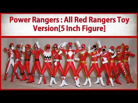 All Red Power Rangers Toy Version|Mighty Morphin To Ninja Steel[5 Inches Action Figure]