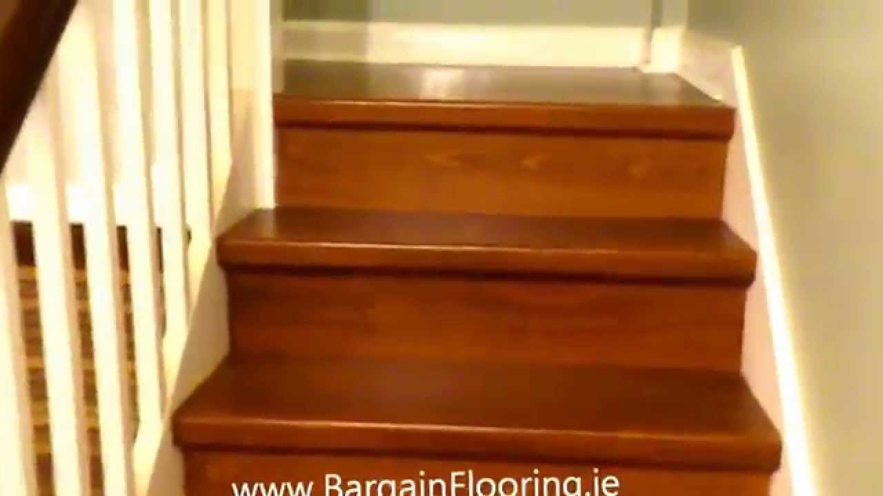 Laminate Flooring On Stairs BargainFlooring.ie - How To Install Laminate Flooring On Stairs - YouTube