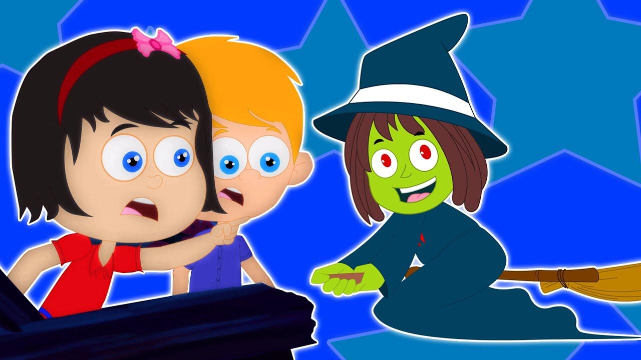 o dia das bruxas noite rima assustador crianças de música