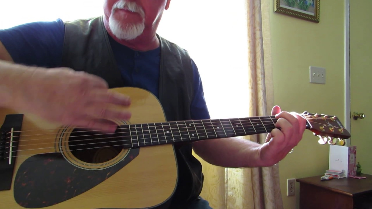 Blue on Black   acoustic guitar cover Kenny Wayne Shepard