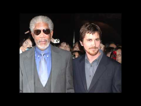 The Dark Knight Rises LEAKED Outtakes: Christian Bale & Morgan Freeman on set (1 of 7)