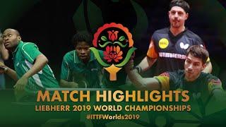 Timo Boll/Patrick Franziska vs Aruna Quadri/Olajide O.   2019 World Championships Highlights (R64)