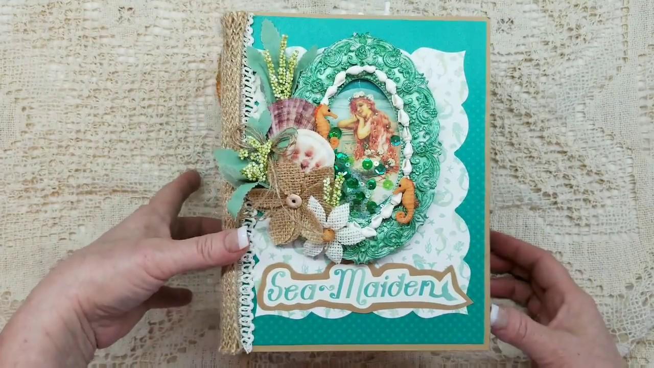 Authentique Seamaiden Mini Album For Scrapbooking With M E Sold Youtube