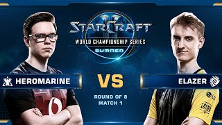 HeroMarine vs Elazer TvZ - Quarterfinals - WCS Summer 2019