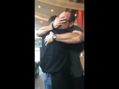 Marine son surprises dad at restaurant