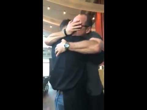 Marine Son Surprises Dad At Restaurant