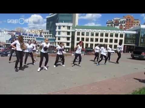 Видео: Флешмоб памяти Майкла Джексона в Казани