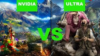 Far Cry 4 - PC ULTRA VS NVIDIA Settings | Graphics Comparison FHD GTX 970
