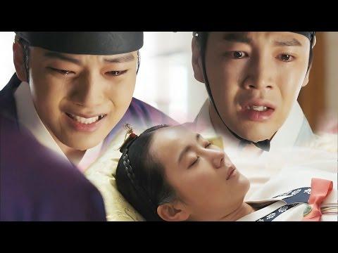 Jang Keun Suk & Yeo Jin Goo crying for Yoon Jin Seo's death 《The Royal Gambler》 대박 EP17