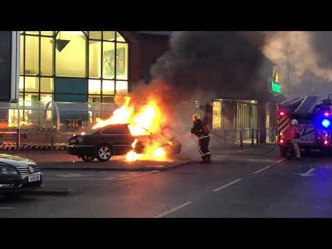 Car fire at Morrison's