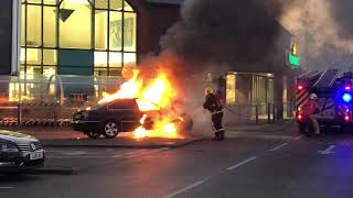 Car fire at Morrison's