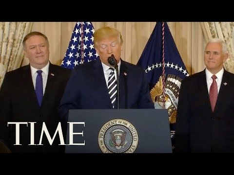 President Trump Attends Mike Pompeo's Swearing-In Ceremony For Secretary Of State | TIME
