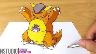 How to Draw Kangaskhan Pokemon