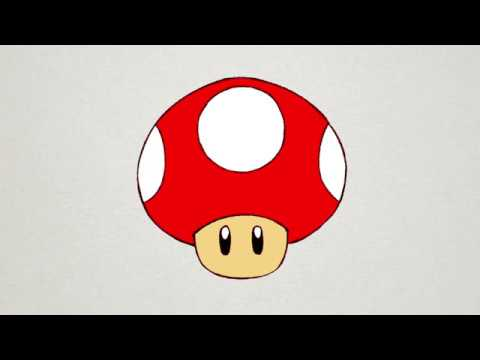 How To Draw Mushroom From Super Mario Bros