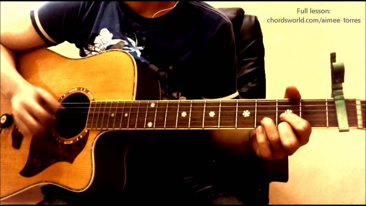 Pusong Bato Chords Aimee Torres Chordsworld Guitar Tutorial