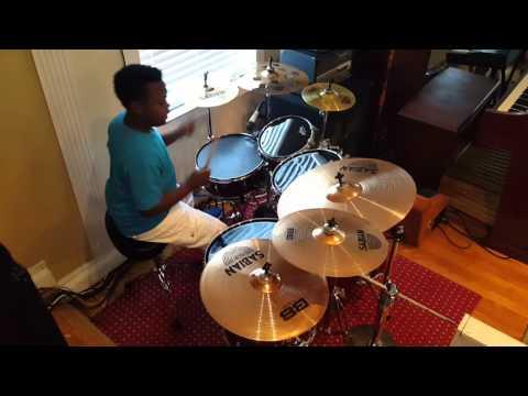 Patrick Usher drumming 2016
