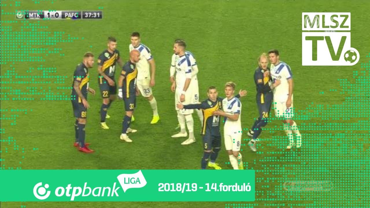 MTK Budapest - Puskás Akadémia FC | 3-2 (1-1) | OTP Bank Liga | 14. forduló | 2018/2019