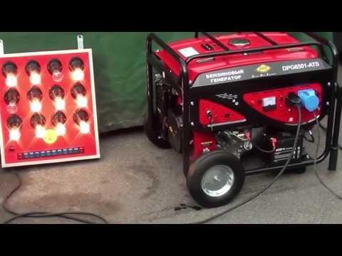 Обзор Бензиновый генератор DDE DPG6501 ATS автоматический ввод резерва