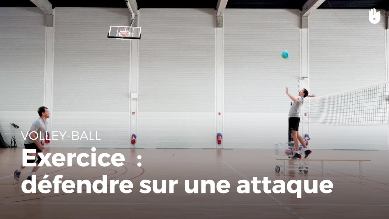 Exercice de défense : défendre sur une attaque | Volley ...