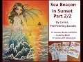Sea Beacon In Sunset. Part 2/2. In Jasmine Becket-Griffiths Coloring Book A Fantasy Art Adventure