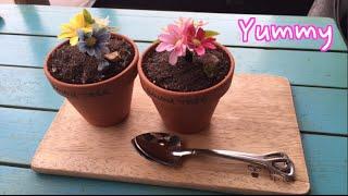 Banana Pudding Flower Pots in Seoul Dessert Vlog